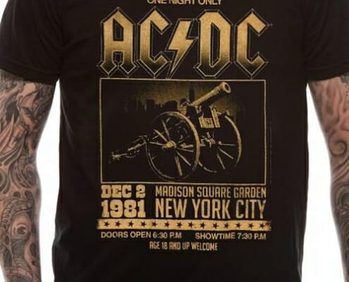 AC DC t-shirt good example band merch