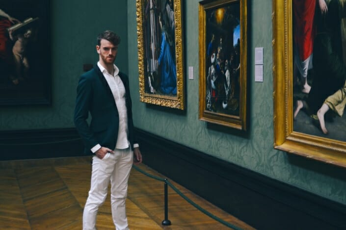 Kieron Premium Photoshoot London National Gallery